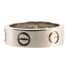 Cartier Love Band Ring 18K White Gold