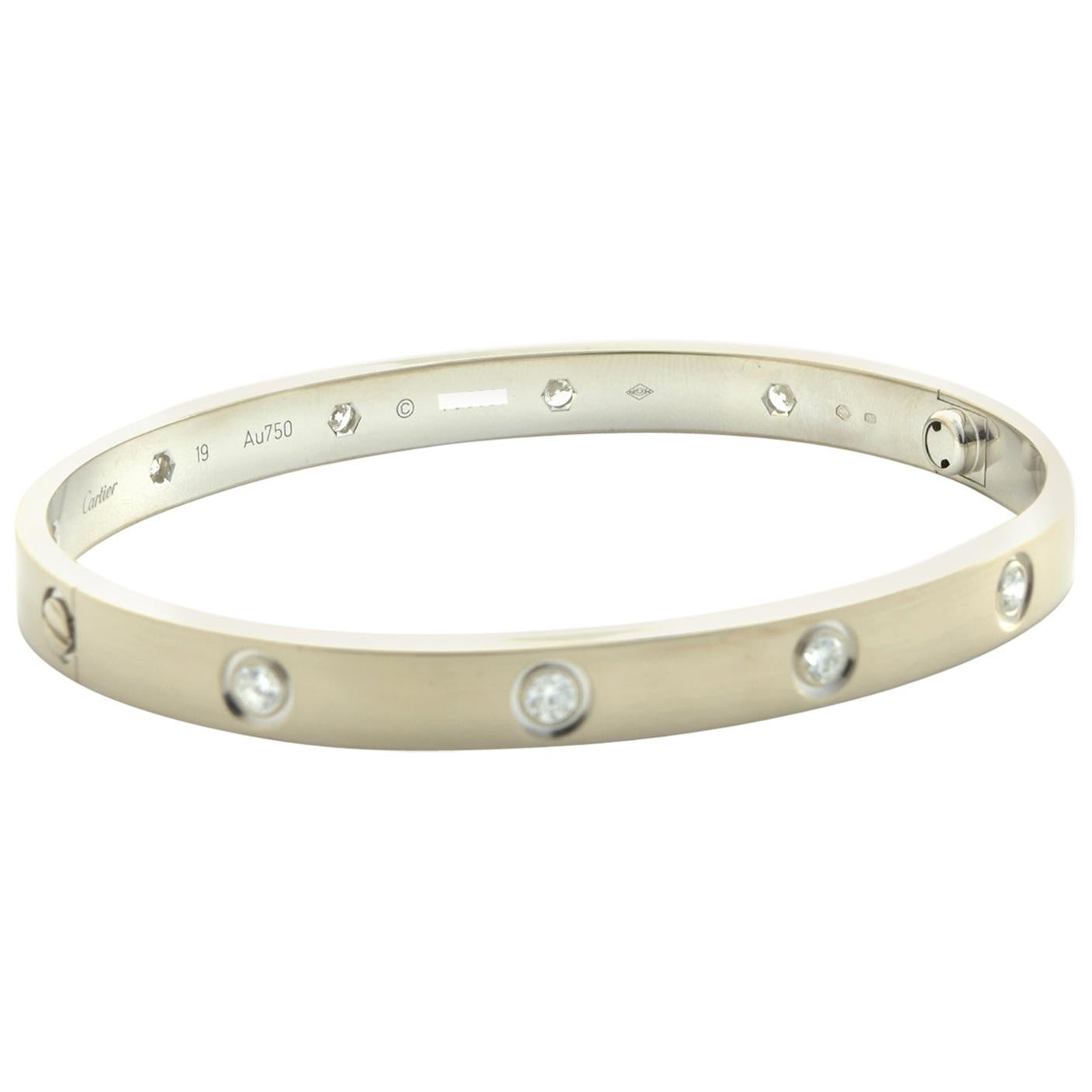 Cartier Love Bangle 10 Diamond 'C-430'