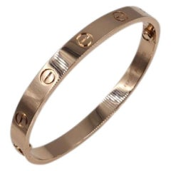 Cartier Love Bangle Bracelet in Rose Gold 29.5g SZ 16 New Screw System