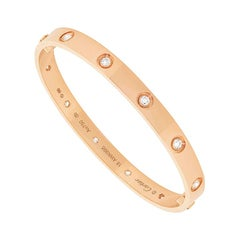 Cartier Love Bangle Rose Gold with 10 Diamonds