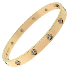 Cartier Love Bracelet 10 Diamond in 18 Karat Rose Gold
