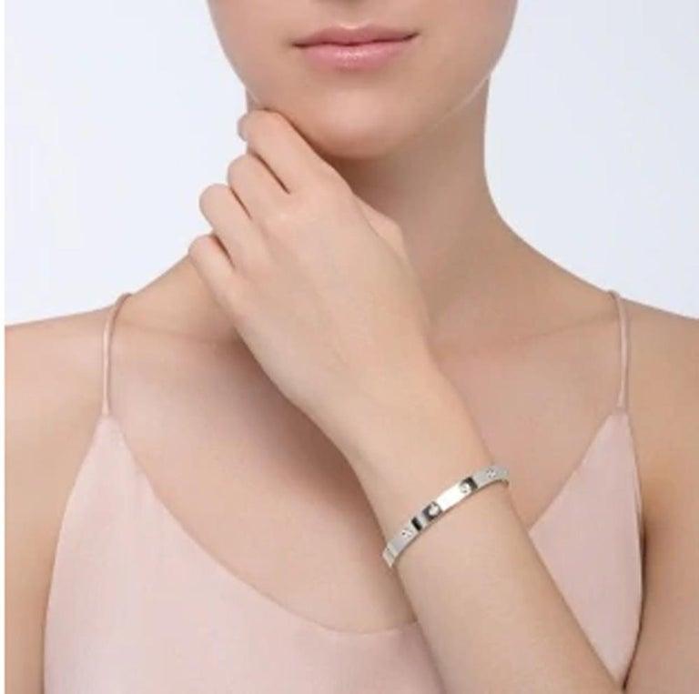 Cartier Love Bracelet 10 Diamonds in 18 Karat White Gold In Excellent Condition For Sale In Miami, FL