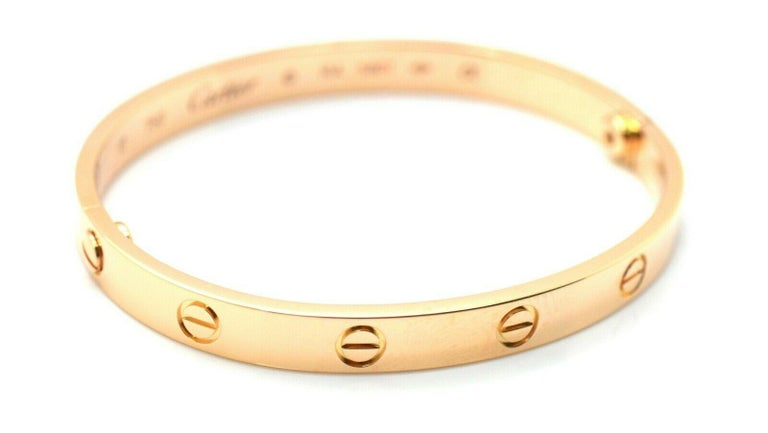 Modern Cartier Love Bracelet 18 Karat Rose Gold