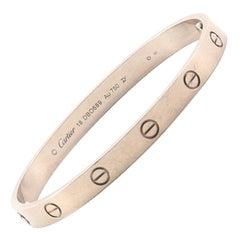 Cartier Love Bracelet 18 Karat White Gold