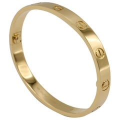 Cartier Love Bracelet 18 Karat Yellow Gold Box and Papers