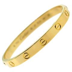 Cartier Love Bracelet 18 Karat Yellow Gold 'C-266'