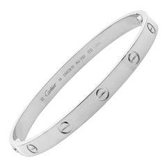 Cartier Love Bracelet 18 White Gold
