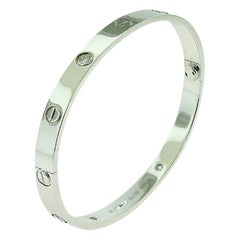 Cartier Love Bracelet 4 Diamond in 18 Karat White Gold