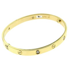 Cartier Love Bracelet 4 Diamond in 18 Karat Yellow Gold