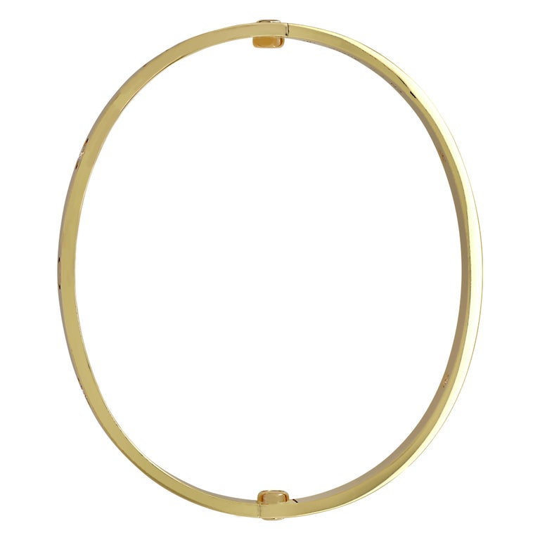 Modern Cartier Love Bracelet, 4 Diamonds For Sale