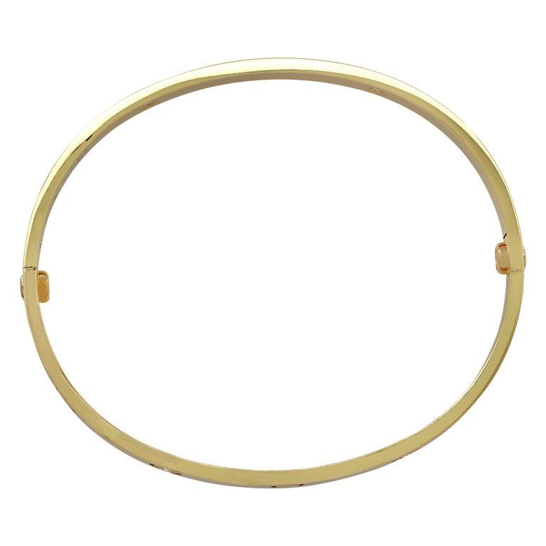 Round Cut Cartier Love Bracelet, 4 Diamonds For Sale