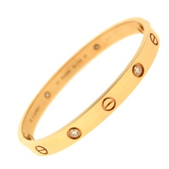 Cartier Love Bracelet 4 Diamonds in Rose Gold, 'C-332'