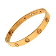 Cartier Love Bracelet 4 Diamonds, Rose Gold, Certified 'C-333'