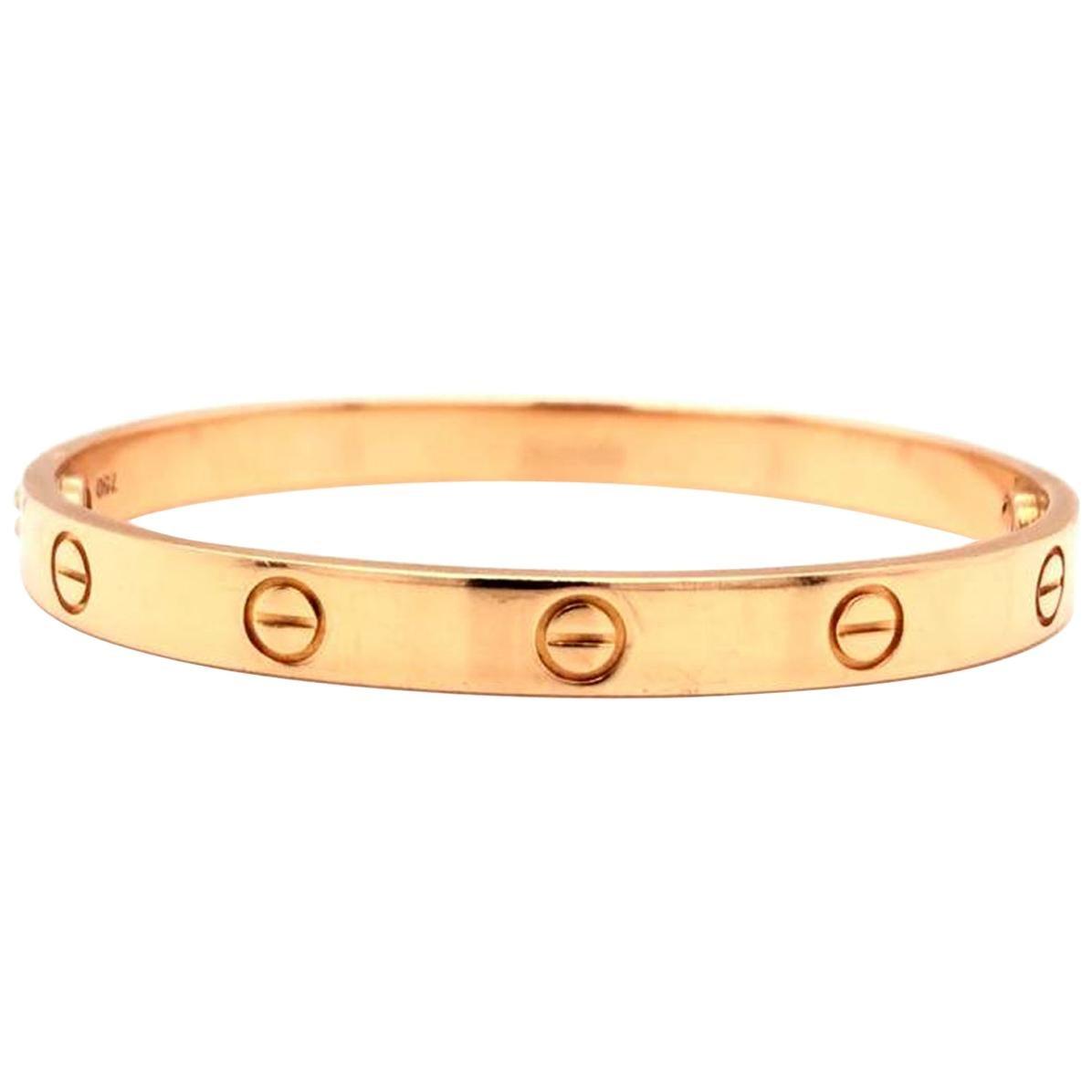 Cartier LOVE Bracelet 18 Karat Rose Gold Vintage with Screwdriver