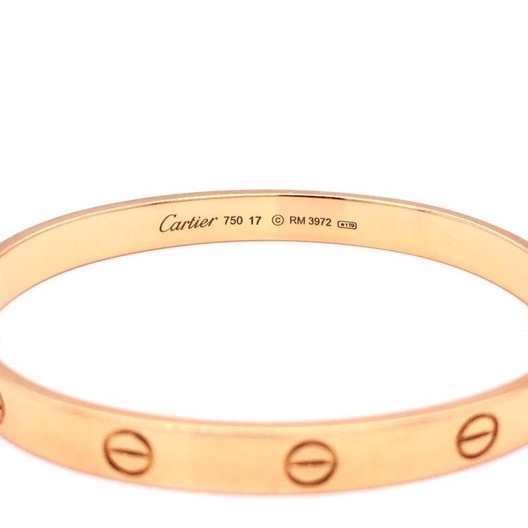 Cartier LOVE Bracelet 18 Karat Rose Gold Vintage with Screwdriver For Sale 1