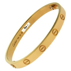 Cartier Love Bracelet Bangle in 18 Karat Rose Gold, Certified 'C-331'