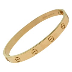 Cartier Love Bracelet Bangle in 18 Karat Rose Gold Certified 'C-335'