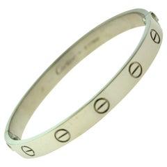 Cartier Love Bracelet Bangle in 18 Karat White Gold