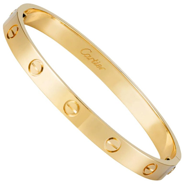 Cartier Love Bracelet, 18 Karat, Box and Papers, Signed For Sale