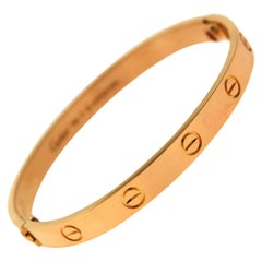 Cartier Love Bracelet in 18 Karat Rose Gold, 'C-338'