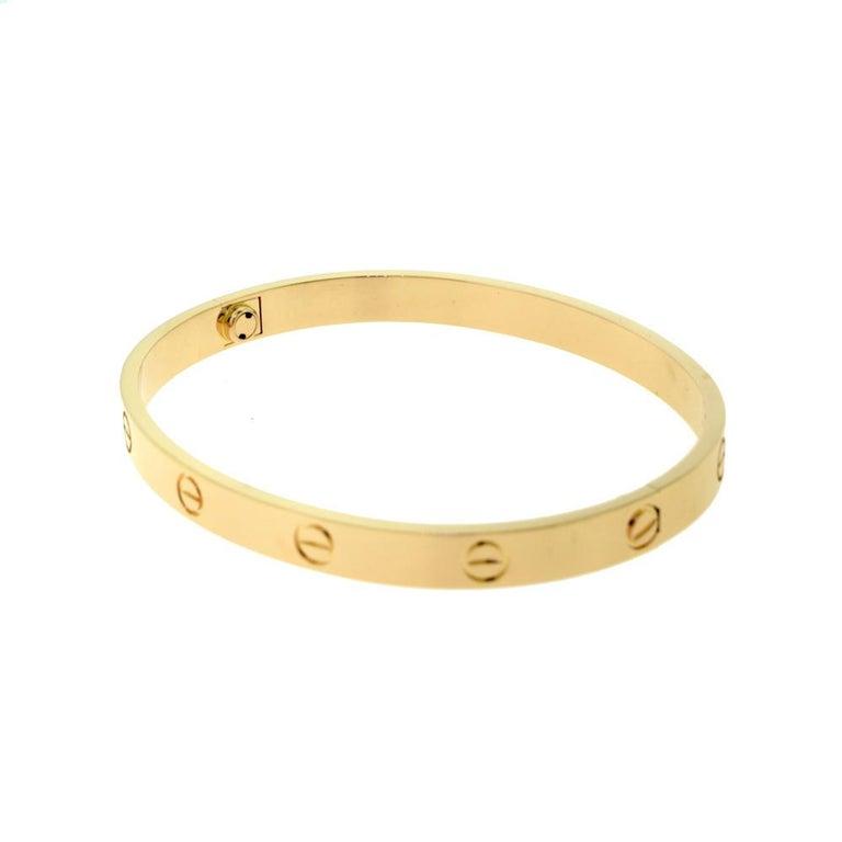 Cartier Love Bracelet in 18 Karat Rose Gold In Excellent Condition For Sale In Miami, FL