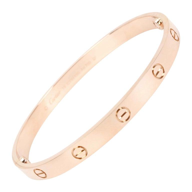 Cartier Love Bracelet in 18 Karat Rose Gold For Sale
