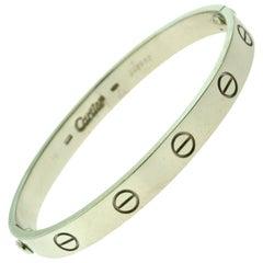 Cartier Love Bracelet in 18 Karat White Gold, Bracelet