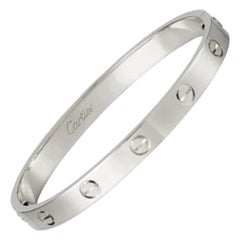 Cartier Love Bracelet in 18 Karat White Gold
