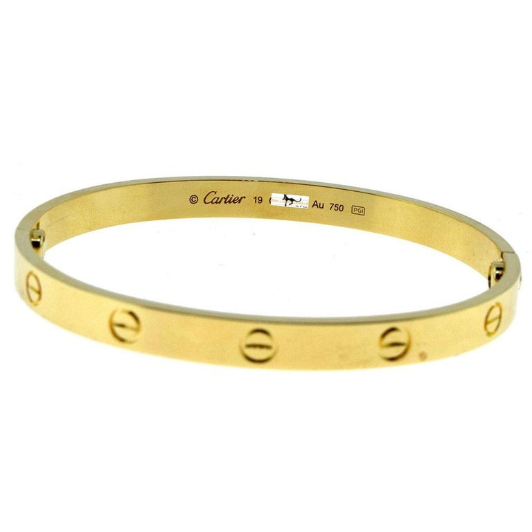 Cartier Love Bracelet in 18 Karat Yellow Gold In Excellent Condition For Sale In Miami, FL