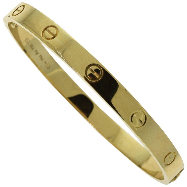 Cartier Love Bracelet in 18 Karat Yellow Gold For Sale