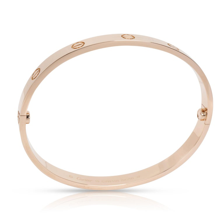 Cartier Love Bracelet in 18 Karat Rose Gold In Excellent Condition For Sale In New York, NY