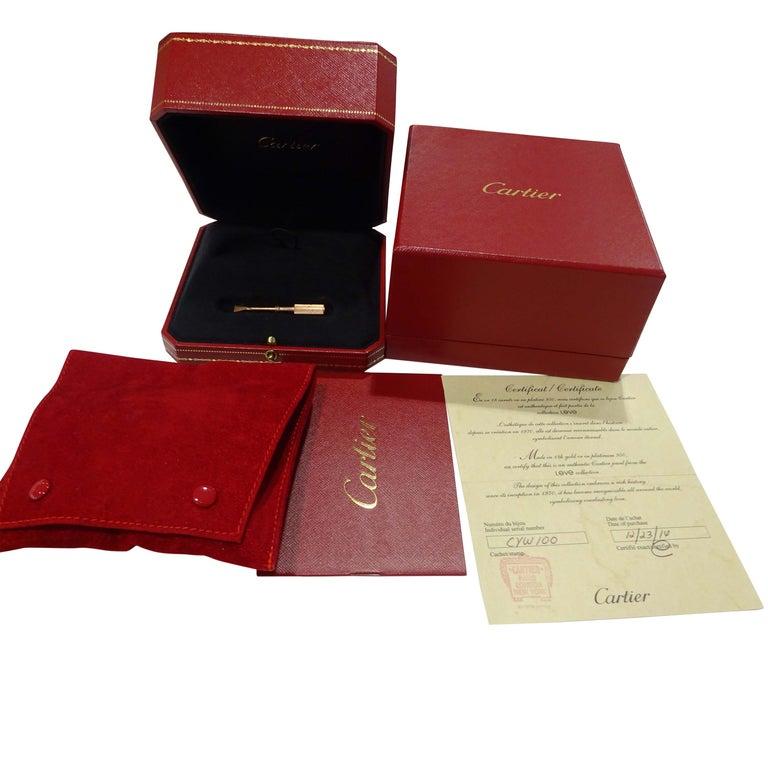 Women's Cartier Love Bracelet in 18 Karat Rose Gold For Sale