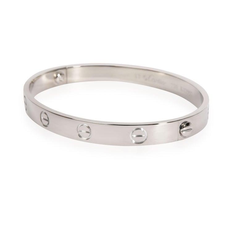 Modern Cartier Love Bracelet in 18k White Gold For Sale