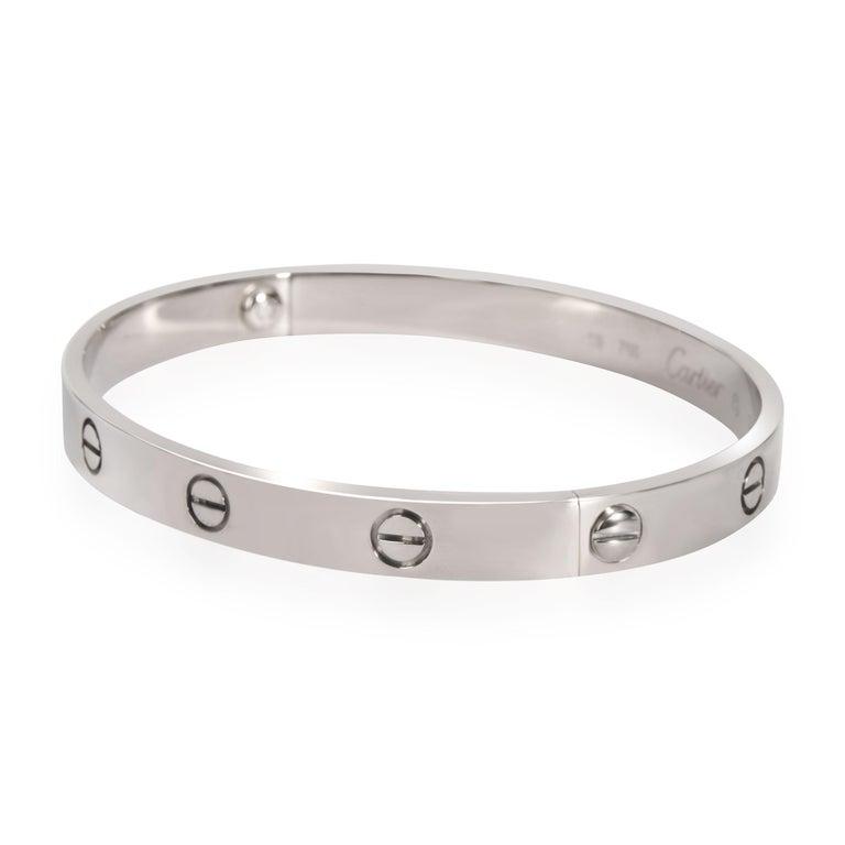 Modern Cartier Love Bracelet in 18k White Gold