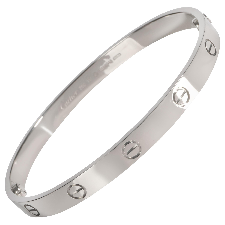 Cartier Love Bracelet in 18k White Gold