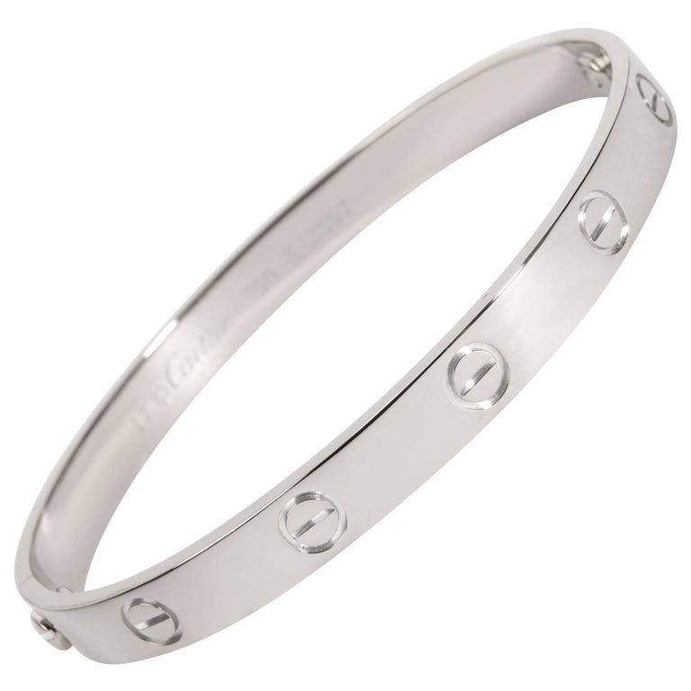 Cartier Love Bracelet in 18k White Gold For Sale