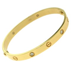 Cartier Love Bracelet in Yellow Gold, 4 Diamonds 'C-271'