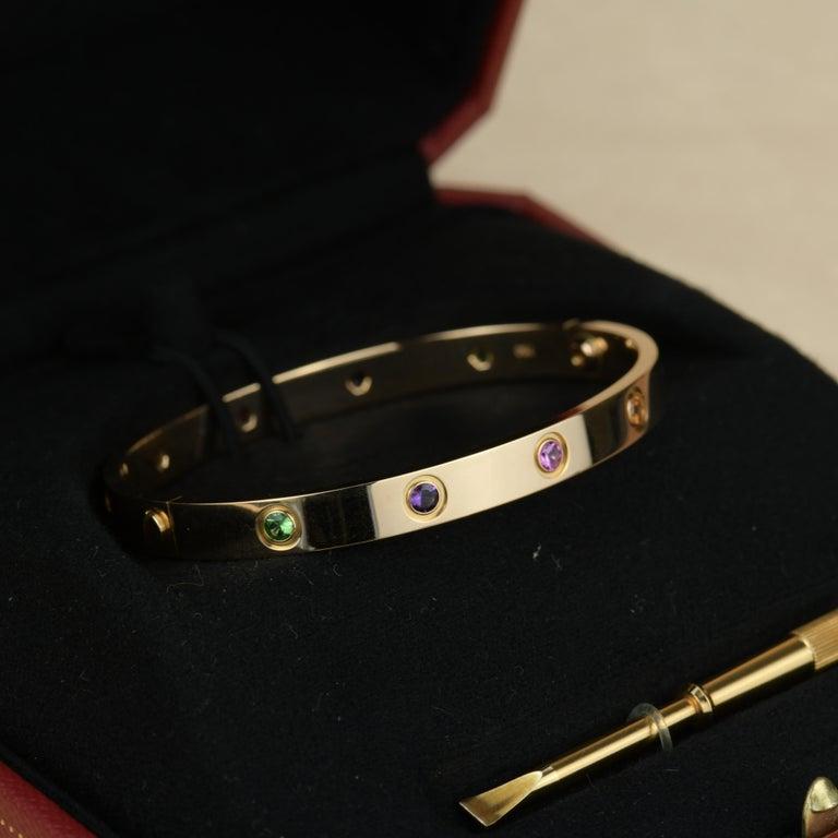 Cartier Love Bracelet Multi Gem Rose Gold 6