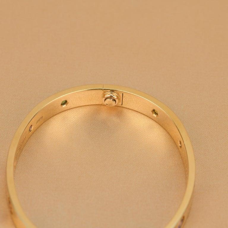 Women's or Men's Cartier Love Bracelet Multi Gem Rose Gold