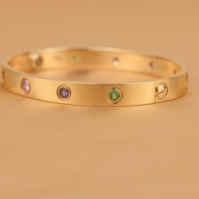 Cartier Love Bracelet Multi Gem Rose Gold 1