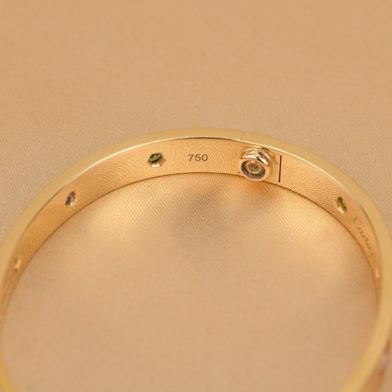 Cartier Love Bracelet Multi Gem Rose Gold 2