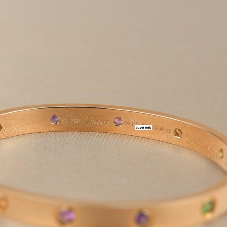 Cartier Love Bracelet Multi Gem Rose Gold 4