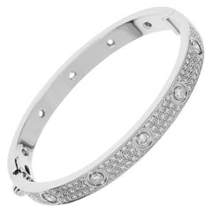 Cartier Love Bracelet Paved Diamonds 18 Karat White Gold