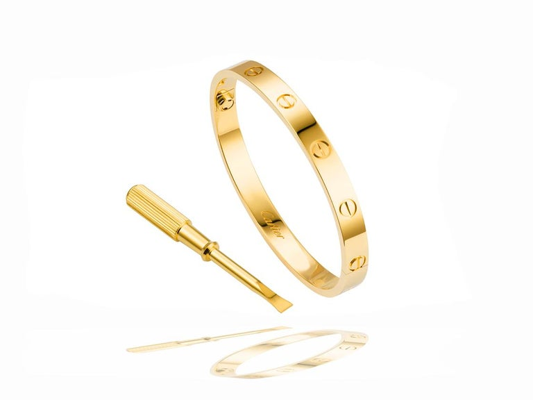 Modern Cartier Love Bracelet, 18 Karat, Box and Papers, Signed For Sale