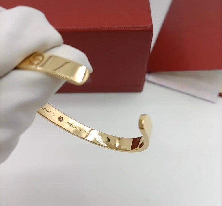 Cartier Love Bracelet with 1 Diamond 18K Yellow Gold Size 16 with Box and Card 2