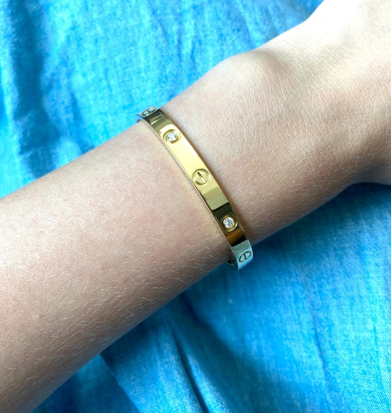 Cartier Love Bracelet with Diamonds In Excellent Condition In New York, NY