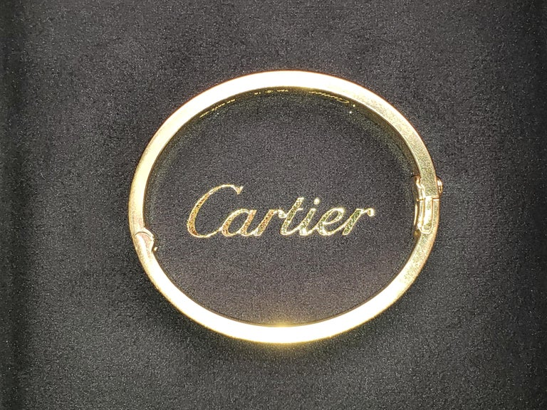 Cartier Love Bracelet Yellow Gold and Diamonds In Excellent Condition For Sale In New York, NY