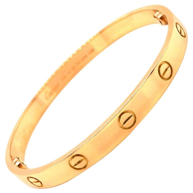 Cartier Love Bracelet Yellow Gold For Sale