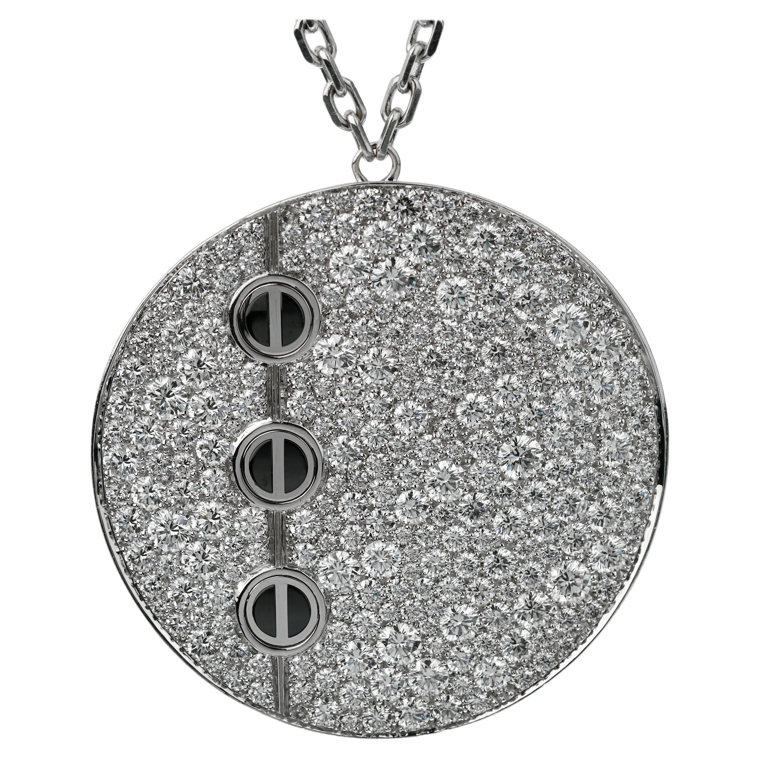 Cartier Love Ceramic Diamond Pendant Necklace