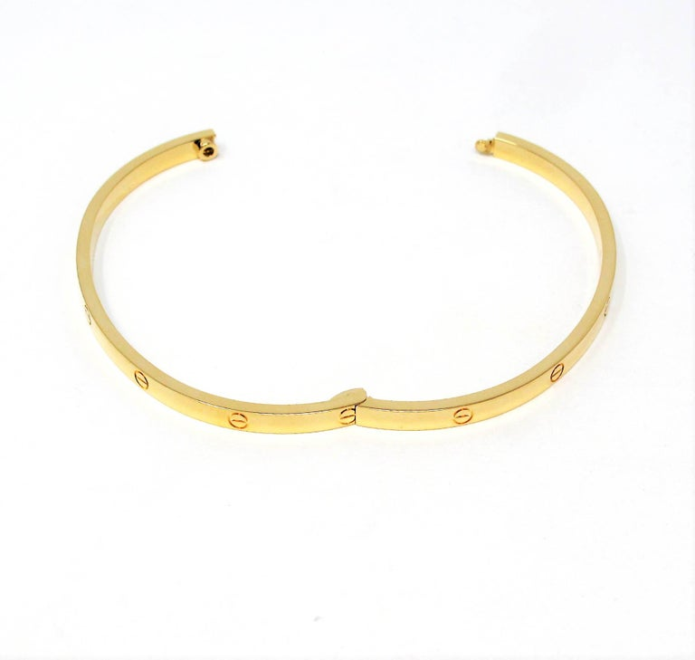Cartier Love Collection Small 18 Karat Yellow Gold Bangle Bracelet with Box 4